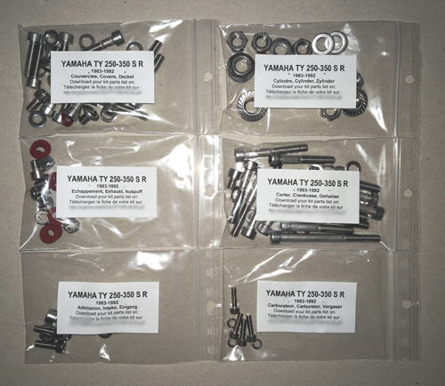A2 Stainless Philips Head Screws Suzuki T200 Crankcase Covers Kit